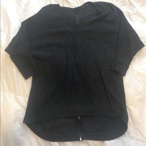 Zipper back sweater